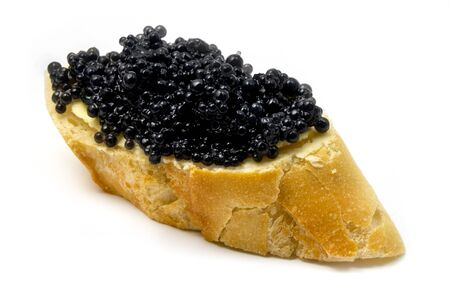 Sturgeon Caviar on a white background