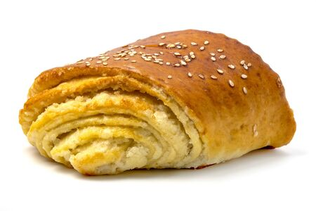 Ireven ketesi, a traditional pastry from Azerbaijan, on a white background