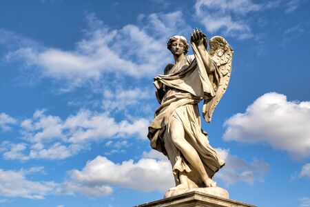 Angel with the Sudarium (Veronica's Veil) on Ponte Sant'Angelo, Rome, Italy