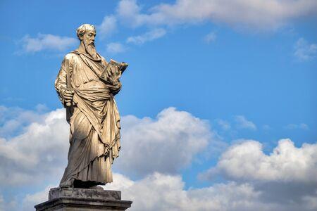 Statue of Saint Paul on Ponte Sant'Angelo, Rome Italy