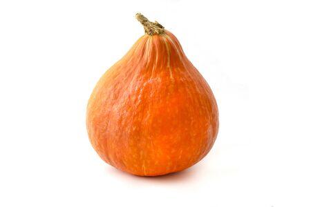 Hokkaido Pumpkin on a white background