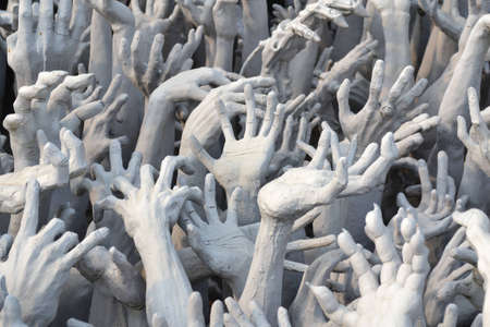 Statue hand at wat rong khun, Chiang Rai, thailand Stock Photo - 12319635