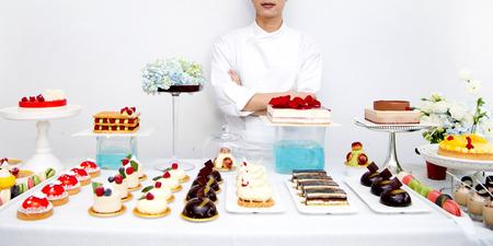 chef: Amo la torta Foto de archivo