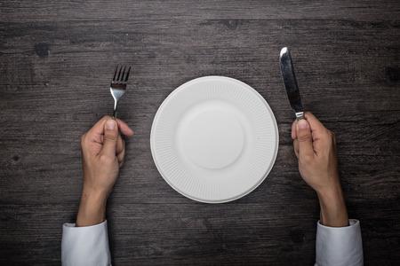 plato de comida: Comida Foto de archivo