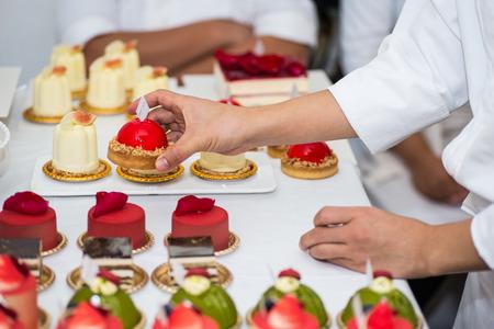 finishing: dessert french food Stock Photo