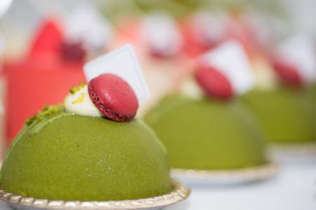 chocolate birthday cake: dessert french food Stock Photo