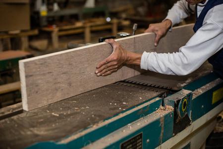 journeyman: Carpentry. Carpenter working in his workshop