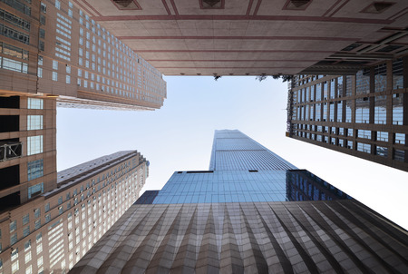commercial architecture: Looking up at the Skyscrapers