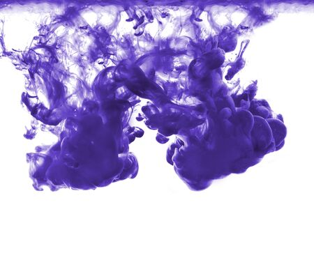 contamination: abstract formed by color dissolving in water