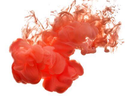 contaminacion del agua: Resumen formado por el color de disolución en el agua Foto de archivo