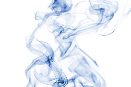 aura: blue smoke collection on white background