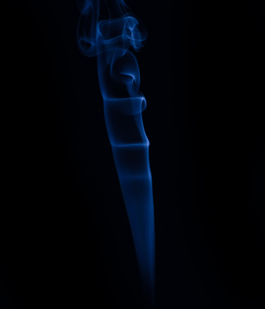 White smoke collection on black background Reklamní fotografie