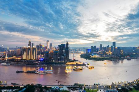 충칭, 중국의 아름다운 도시 경관 스톡 콘텐츠