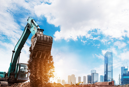 earthmover: excavator in action