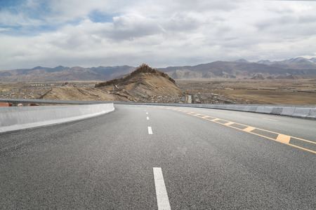 Highways and distant mountains