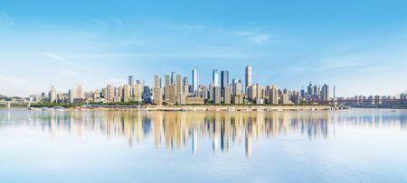 Modern metropolis skyline, Chongqing, China, 版權商用圖片 - 124748549