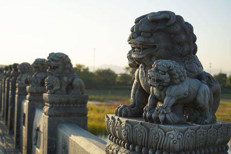 Lions stone sculpture