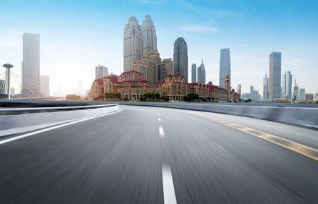 Expressway and Modern Urban Architecture in Tianjin, China