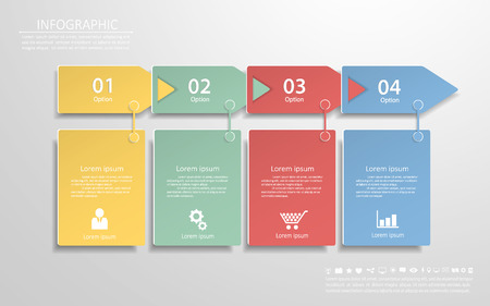 conection: Abstract template with icons set for business design, reports, step presentation