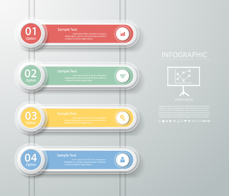 conection: Clean Template 4 steps. Can be used for workflow layout, banner, diagram