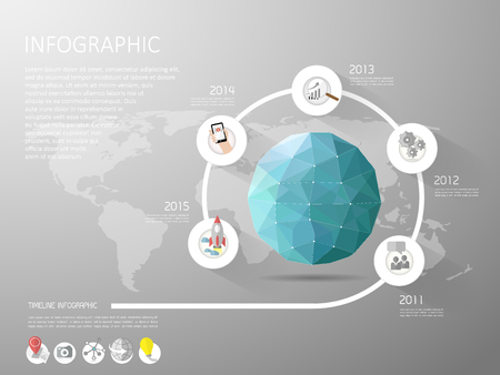 web marketing: Abstract Template. Can be used for workflow layout, banner, diagram