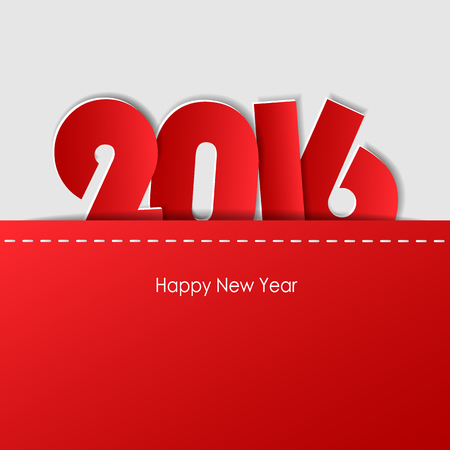 Design greeting card, Happy new year 2016. Vector illustration eps10