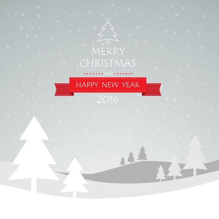 christmas background vintage: Christmas greeting card, and Happy new year message, Vector illustration Eps 10 Illustration