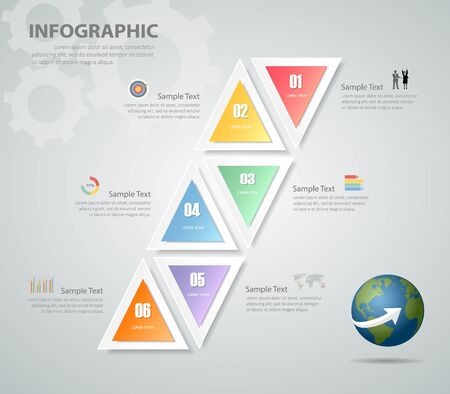 chronological: Design Infographic template. can be used for workflow layout, diagram, number options, bussiness concept