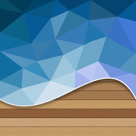 ocean and sea: Abstract background geometric water with white plank wood - Vector