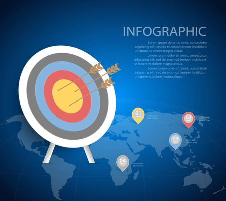 conection: Abstract Target Template. Can be used for workflow layout, banner, diagram, web design, infographic Vector Eps10