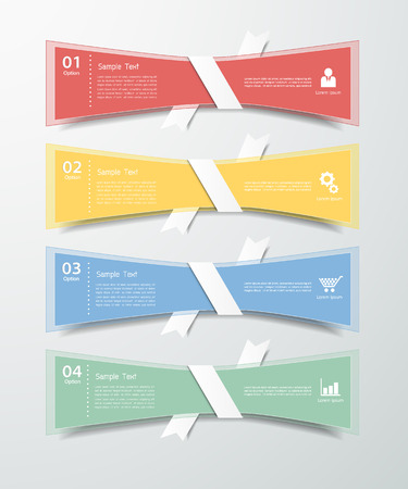 origimi: Abstract template 4 steps. Can be used for workflow layout, banner, diagram. Illustration