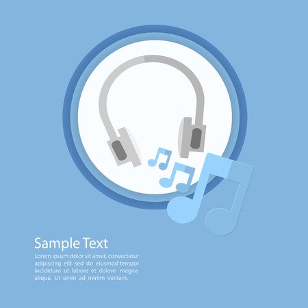 earphone: earphone icon template  Illustration