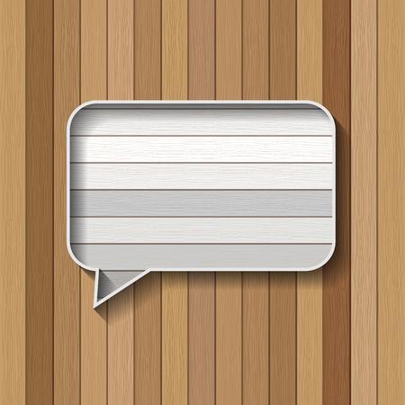 plank: wood plank message bubble  Illustration