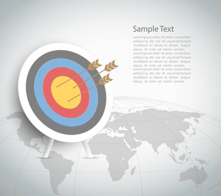 conection: Abstract Target Template. Can be used for workflow layout, banner, diagram, web design, infographic