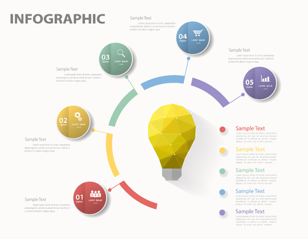 infographics template: Infographic template. Vector illustration can be used for workflow layout, diagram, number options