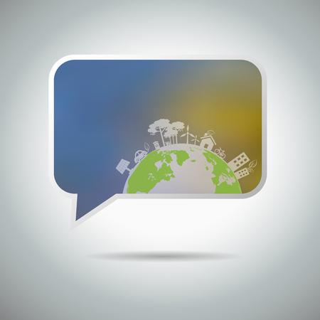 speech buble: Ecology speech buble
