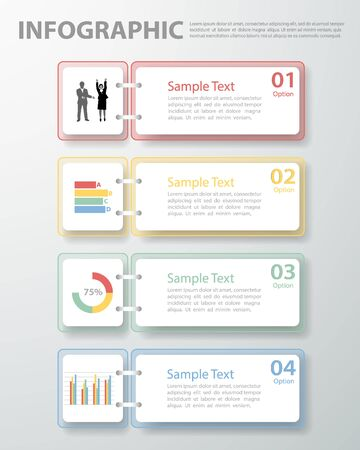 3d image: Design template Infographic. illustration can be used for workflow layout, diagram, number options