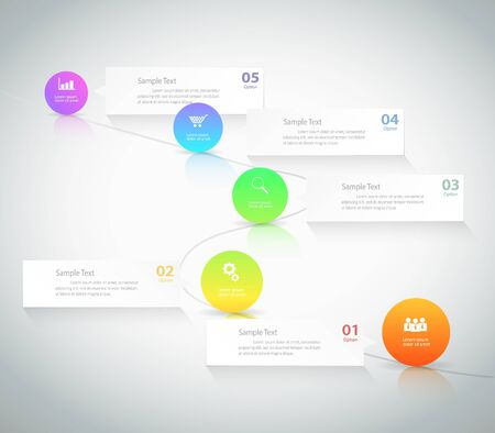 color image: Design template Infographic. can be used for workflow layout, diagram, number options Illustration