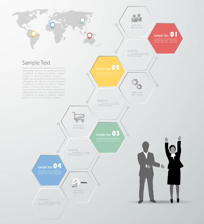 Design template Infographic. Vector illustration can be used for workflow layout, diagram, number options