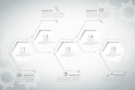 infografía plantilla abstracta. se puede utilizar para la disposición de flujo de trabajo, diagrama, opciones de números