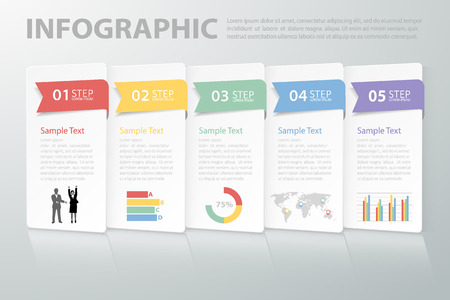 number: Design clean template infographic. can be used for workflow layout, diagram, number options