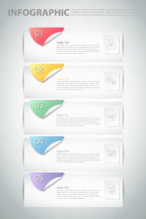 5 steps infographic template. can be used for workflow layout, diagram, number options