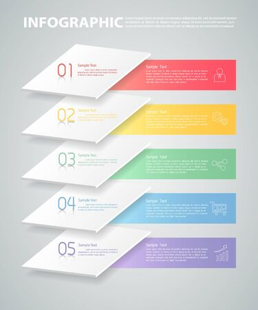 Overlay infographic template. can be used for workflow layout, diagram, number options Illustration