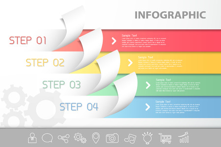 layout template: Abstract  infographic template. can be used for workflow layout, diagram, number options
