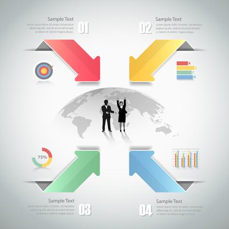 Design Infographic template 4 steps. for bussiness concept Illustration