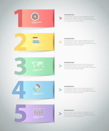 Design Infographic template 5 steps. for bussiness concept