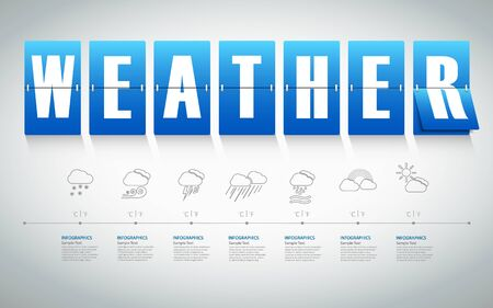 vecter: Abstract weather template. vecter eps 10. Illustration