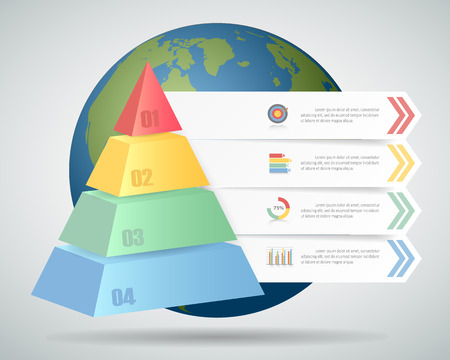 conection: Design Infographic template 4 steps. can be used for workflow layout, diagram, number options, bussiness concept