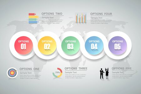 spiral: Design infographics template can be use for business concept, workflow, diagram