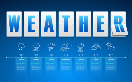 day forecast: Abstract weather template. vecter eps 10. Illustration